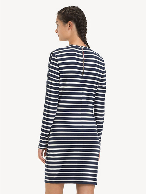 TOMMY JEANS Stripe Bodycon Dress - BLACK IRIS / CLASSIC WHITE - TOMMY JEANS Dresses - detail image 1