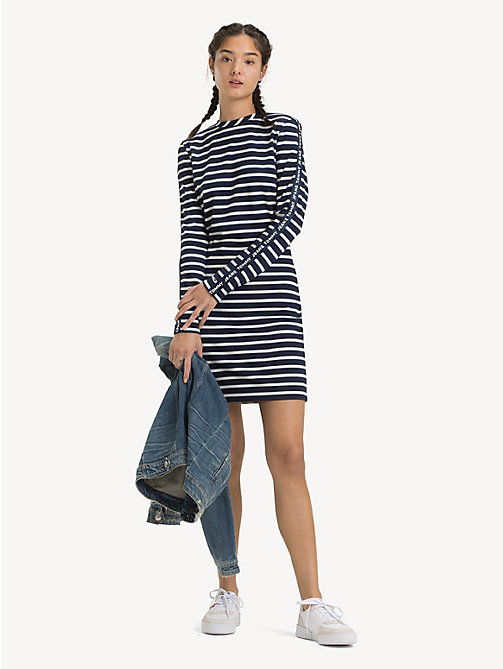 TOMMY JEANS Stripe Bodycon Dress - BLACK IRIS / CLASSIC WHITE - TOMMY JEANS Dresses - main image