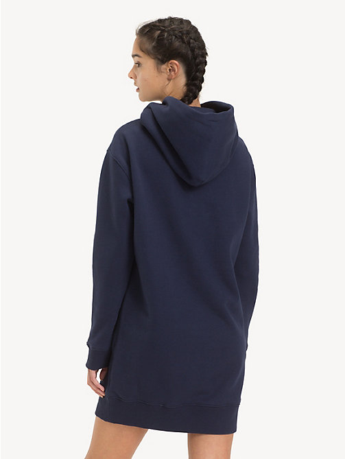 TOMMY JEANS Tommy Classics Hoody Dress - BLACK IRIS - TOMMY JEANS Dresses - detail image 1