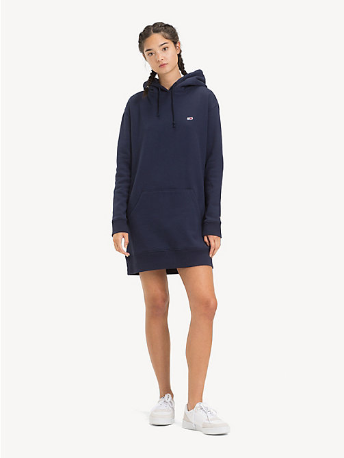 TOMMY JEANS Tommy Classics Hoody Dress - BLACK IRIS - TOMMY JEANS Dresses - main image