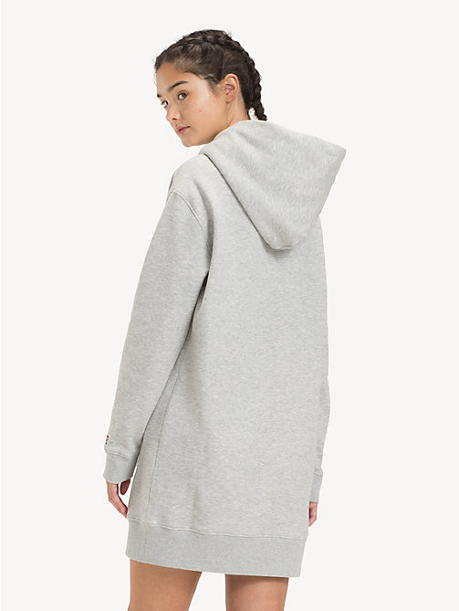 TOMMY JEANS Tommy Classics Hoody Dress - LT GREY HTR - TOMMY JEANS Dresses - detail image 1