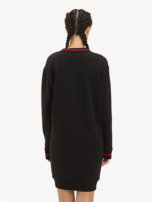 TOMMY JEANS Logo Jumper Dress - TOMMY BLACK - TOMMY JEANS Jumper Dresses - detail image 1