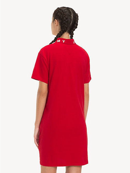 TOMMY JEANS Logo Collar Polo Dress - SAMBA - TOMMY JEANS Dresses - detail image 1