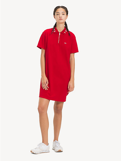 TOMMY JEANS Logo Collar Polo Dress - SAMBA - TOMMY JEANS Dresses - main image
