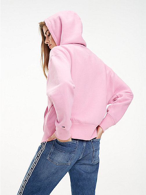 TOMMY JEANS Fleece-Hoodie mit Logo - LILAC CHIFFON - TOMMY JEANS Sweatshirts & Kapuzenpullover - main image 1
