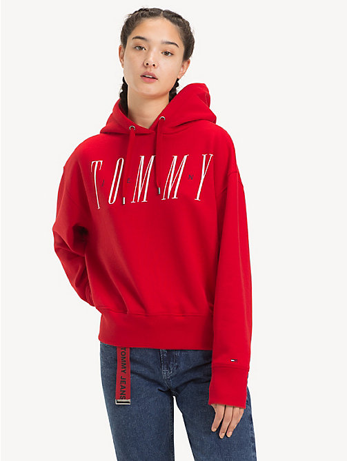 TOMMY JEANS Logo Drawstring Hoody - SAMBA - TOMMY JEANS Sweatshirts & Hoodies - main image