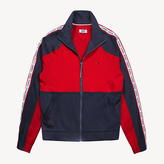 0737d505d Colour-Blocked Tracksuit Jacket. TOMMY JEANS