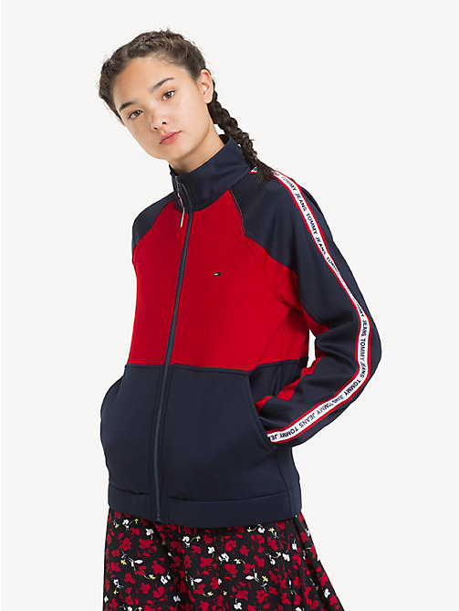 TOMMY JEANS Colour-Blocked Tracksuit Jacket - BLACK IRIS / SAMBA - TOMMY JEANS Sweatshirts & Hoodies - main image