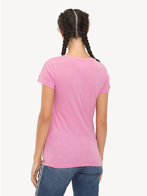 TOMMY JEANS T-shirt slim fit con logo - LILAC CHIFFON - TOMMY JEANS Sustainable Evolution - dettaglio immagine 1