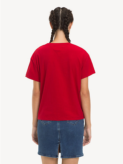 TOMMY JEANS Cropped Fit Logo T-Shirt - SAMBA - TOMMY JEANS Tops - detail image 1