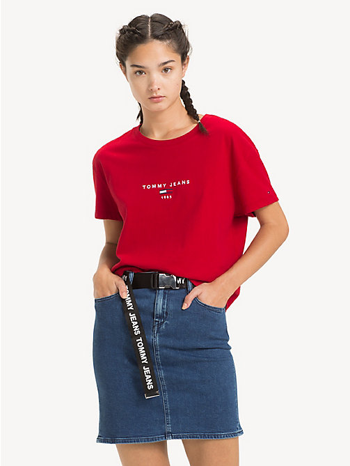 TOMMY JEANS Cropped Fit Logo T-Shirt - SAMBA - TOMMY JEANS Tops - main image