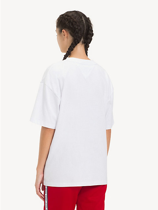 TOMMY JEANS Oversized T-shirt met logo - CLASSIC WHITE - TOMMY JEANS Tops - detail image 1