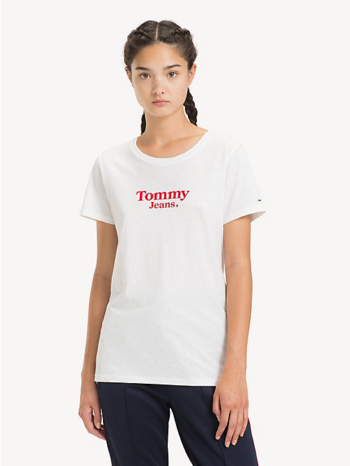 TOMMY JEANS Crew Neck T-Shirt - CLASSIC WHITE - TOMMY JEANS Sustainable Evolution - main image