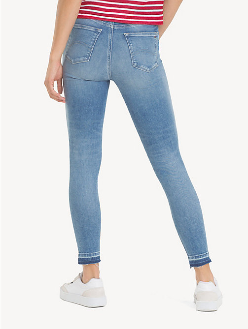 TOMMY JEANS Mid Rise Cropped Skinny Jeans - ECHO LIGHT BLUE STR - TOMMY JEANS Jeans - detail image 1