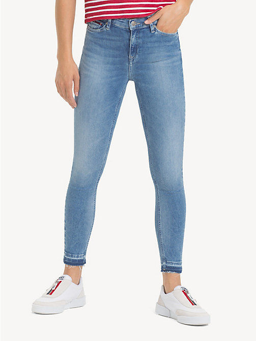 NEW TOMMY JEANS Mid Rise Cropped Skinny Jeans - ECHO LIGHT BLUE STR - TOMMY  JEANS Jeans ... fb36f532b5