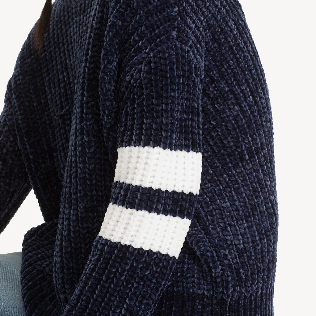 Tommy Pull Bande Visible V Dos Jeans Avec En xYIwrYUqv