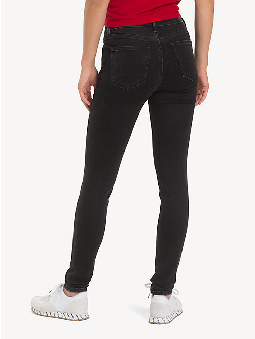 ... TOMMY JEANS Nora Mid Rise Skinny Jeans - PLUSH BLACK STR - TOMMY JEANS  Jeans - b75d09c59a