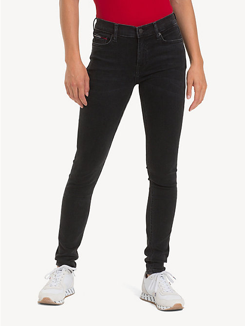 TOMMY JEANS Jean skinny Nora taille normale - PLUSH BLACK STR - TOMMY JEANS Jeans - image principale