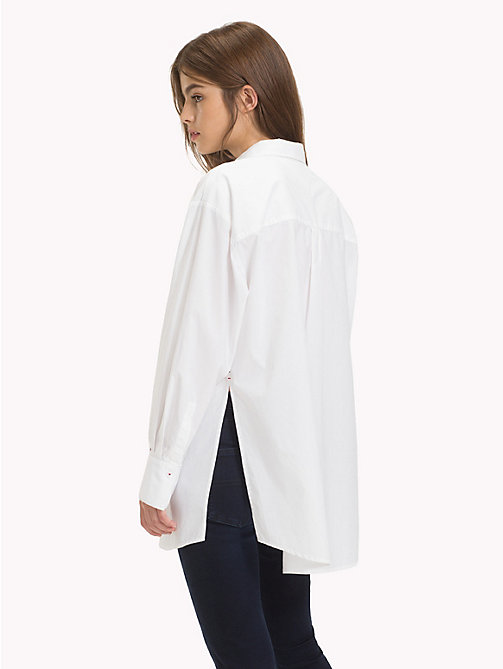 TOMMY JEANS Oversized Monogram Pocket Shirt - CLASSIC WHITE - TOMMY JEANS Tops - detail image 1