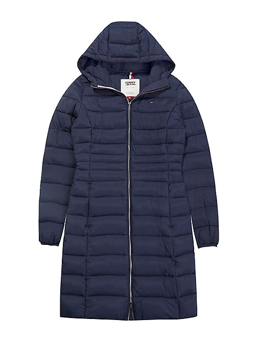 TOMMY JEANS Quilted Hooded Coat - BLACK IRIS - TOMMY JEANS Coats & Jackets - detail image 1