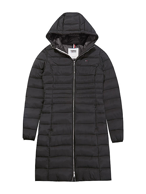 TOMMY JEANS Quilted Hooded Coat - TOMMY BLACK - TOMMY JEANS Coats & Jackets - detail image 1