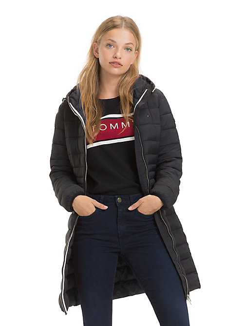 TOMMY JEANS Quilted Hooded Coat - TOMMY BLACK - TOMMY JEANS Coats & Jackets - main image
