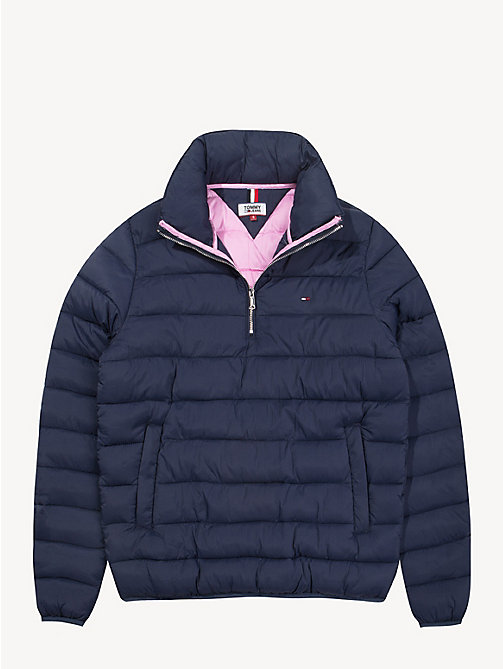 TOMMY JEANS Quilted Hooded Popover - BLACK IRIS - TOMMY JEANS Coats & Jackets - detail image 1