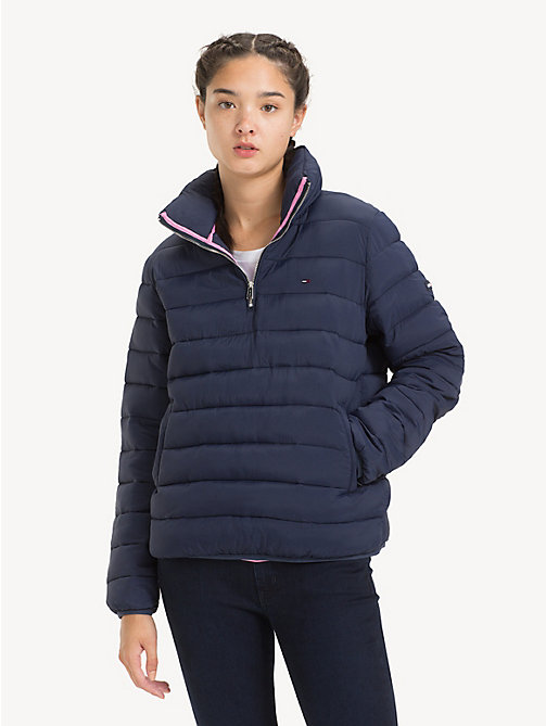 TOMMY JEANS Quilted Hooded Popover - BLACK IRIS - TOMMY JEANS Coats & Jackets - main image