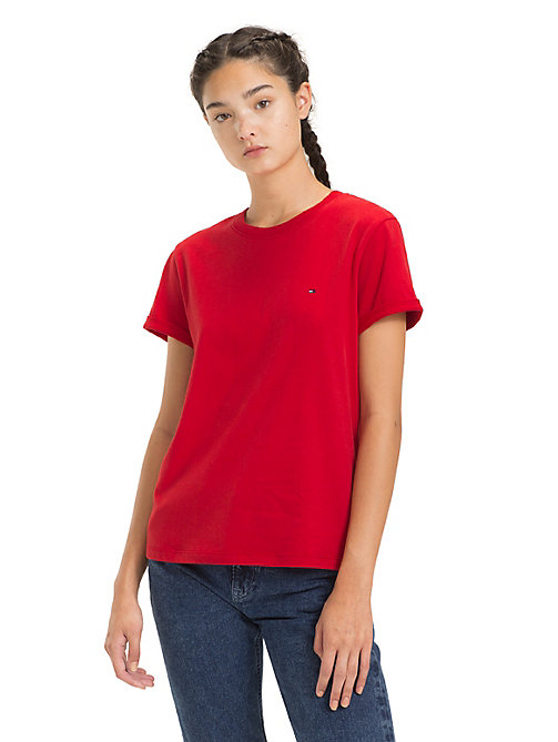 TOMMY JEANS Rolled Up Sleeve T-Shirt - SAMBA - TOMMY JEANS Tops - main image