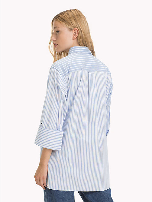 TOMMY JEANS Oversized Stripe Shirt - SERENITY / CLASSIC WHITE - TOMMY JEANS Tops - detail image 1