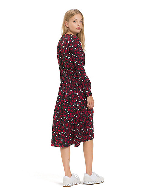 TOMMY JEANS Floral Print Wrap Dress - FLORAL PRINT SMALL / MULTI - TOMMY JEANS Dresses - detail image 1