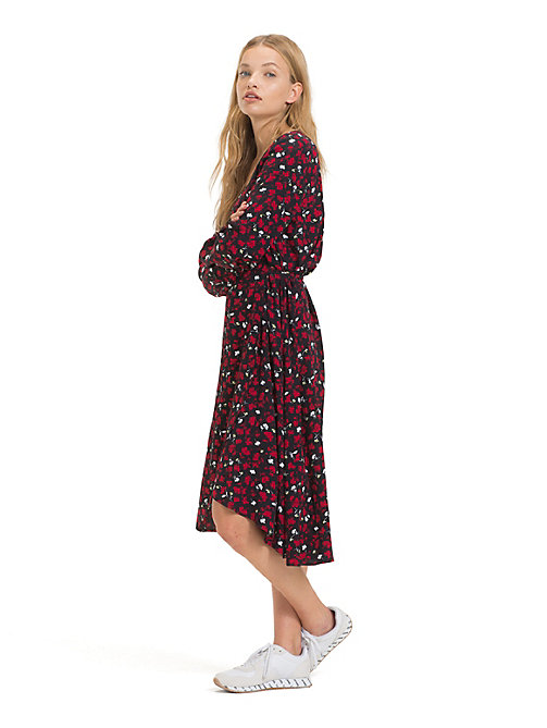 TOMMY JEANS Floral Print Wrap Dress - FLORAL PRINT SMALL / MULTI - TOMMY JEANS Dresses - main image