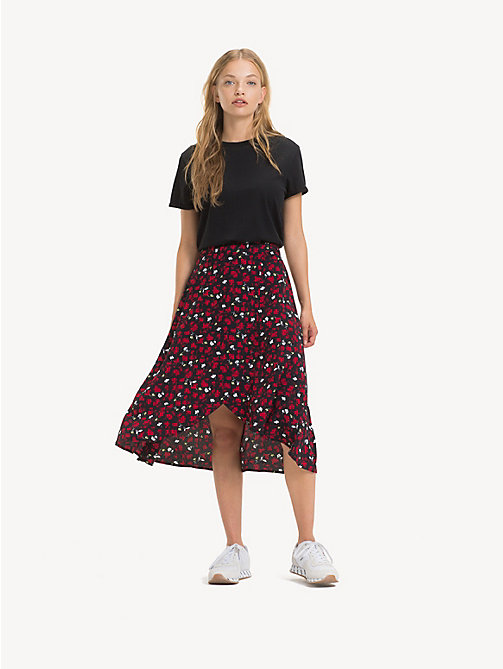 TOMMY JEANS Floral Print Skirt - FLORAL PRINT SMALL / MULTI - TOMMY JEANS Trousers & Skirts - main image