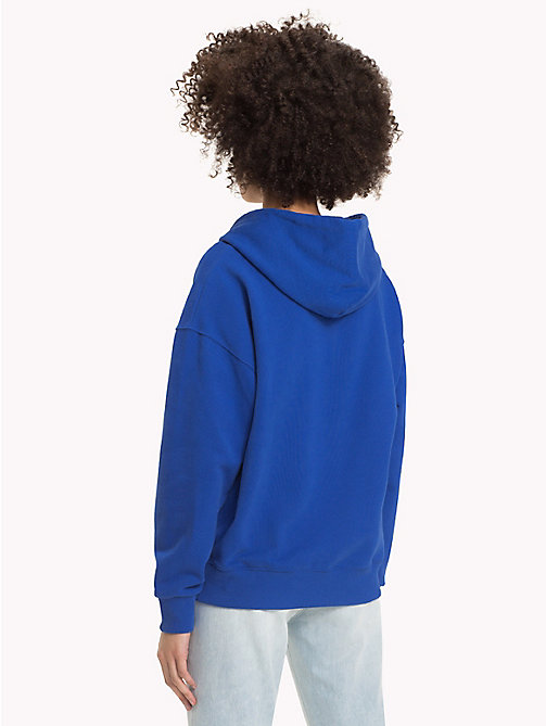 TOMMY JEANS Signature Cotton Fleece Hoodie - SURF THE WEB - TOMMY JEANS Sweatshirts & Hoodies - detail image 1