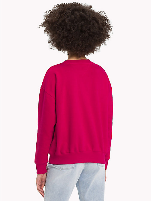 TOMMY JEANS Signature-sweatshirt met ronde hals - CERISE - TOMMY JEANS Signature Collection - detail image 1