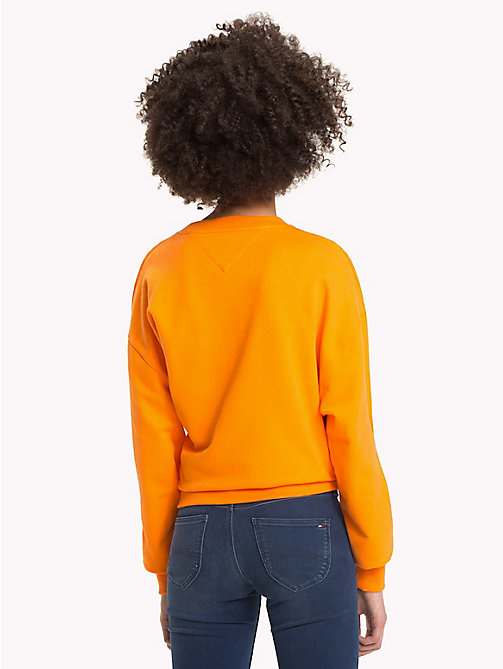 TOMMY JEANS Signature Crew Neck Sweatshirt - ORANGE PEEL - TOMMY JEANS Signature Collection - detail image 1