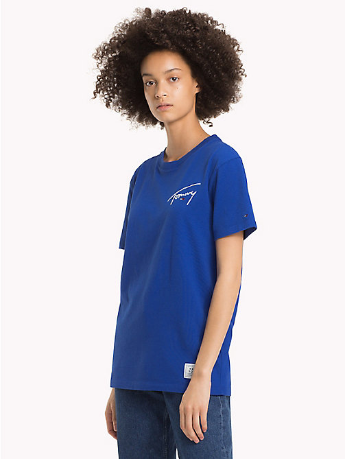 TOMMY JEANS Signature T-shirt met ronde hals - SURF THE WEB - TOMMY JEANS Signature Collection - main image