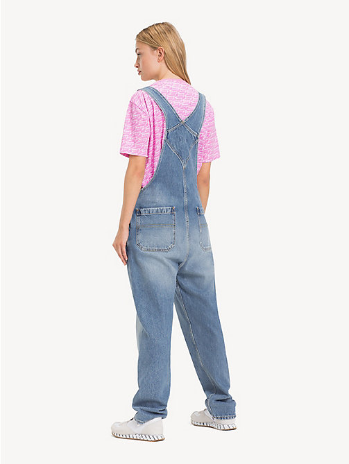 TOMMY JEANS Faded Denim Dungarees - PARK LIGHT BL RIG - TOMMY JEANS Jeans - detail image 1