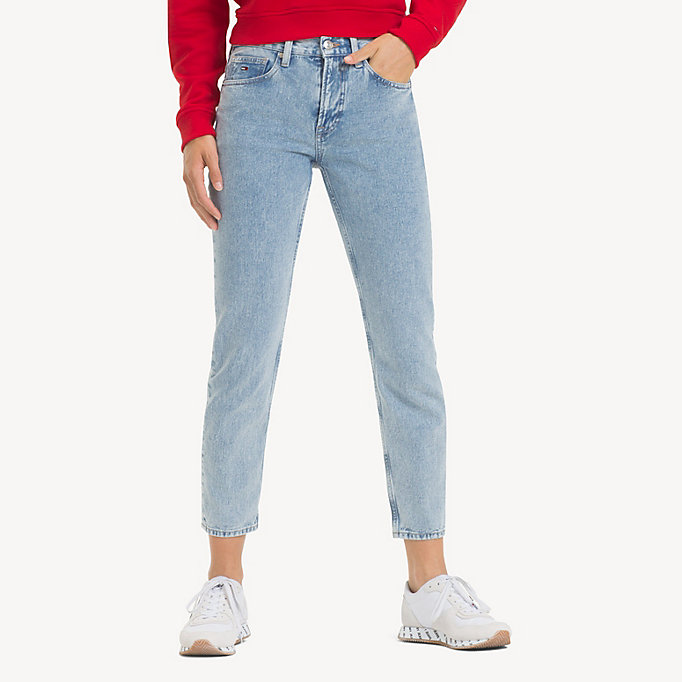 3267067785cbb1 Izzy High Rise Cropped Jeans | EIGHTIES LT BL RIG | Tommy Hilfiger