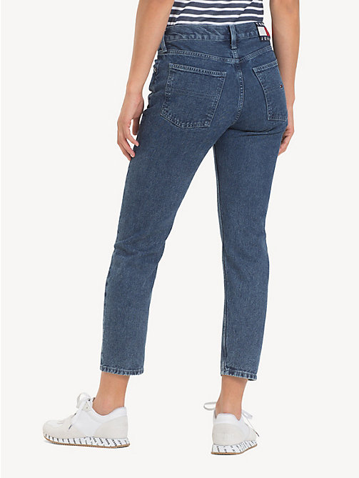 TOMMY JEANS Izzy High Rise Cropped Jeans - EIGHTIES MID BL RIG - TOMMY JEANS Jeans - detail image 1