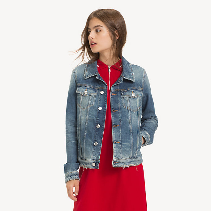 Veste jean tommy hilfiger femme vintage