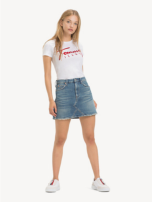 TOMMY JEANS Denim Mini Skirt - US IDOL 2 MD BL RG D - TOMMY JEANS Trousers & Skirts - main image
