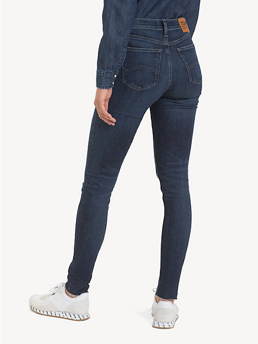 TOMMY JEANS Mid Rise Nora Skinny Jeans - ROCK DARK BLUE STR - TOMMY JEANS Jeans - detail image 1
