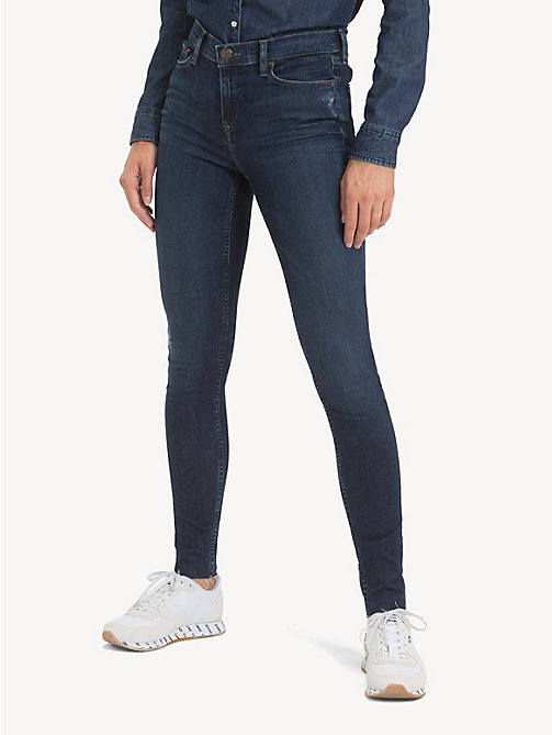 TOMMY JEANS Mid Rise Nora Skinny Jeans - ROCK DARK BLUE STR - TOMMY JEANS Jeans - main image