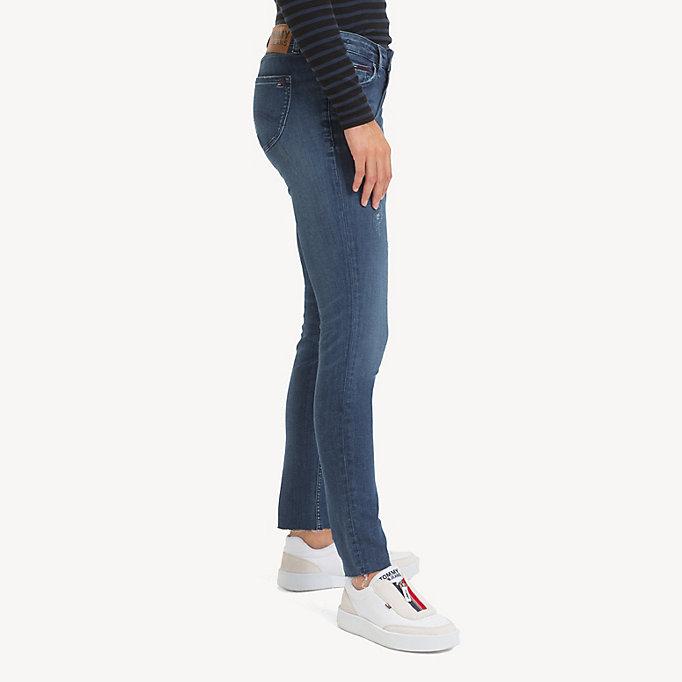 5f694928c99 Sophie Distressed Low Rise Skinny Jeans   ROCK MID BLUE STR   Tommy Hilfiger