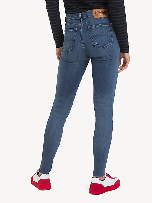 TOMMY JEANS Nora distressed skinny fit jeans - ROCK MID BLUE STR - TOMMY JEANS Jeans - detail image 1