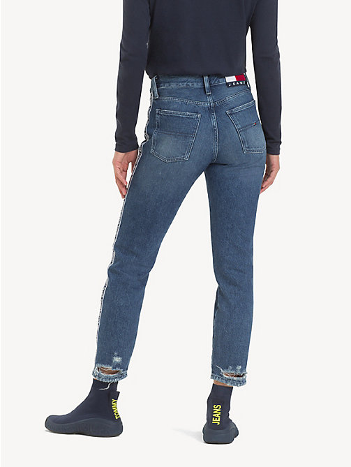 TOMMY JEANS Izzy Logo Tape Cropped Jeans - SYDNEY TAPE MD BL  R - TOMMY JEANS Jeans - detail image 1