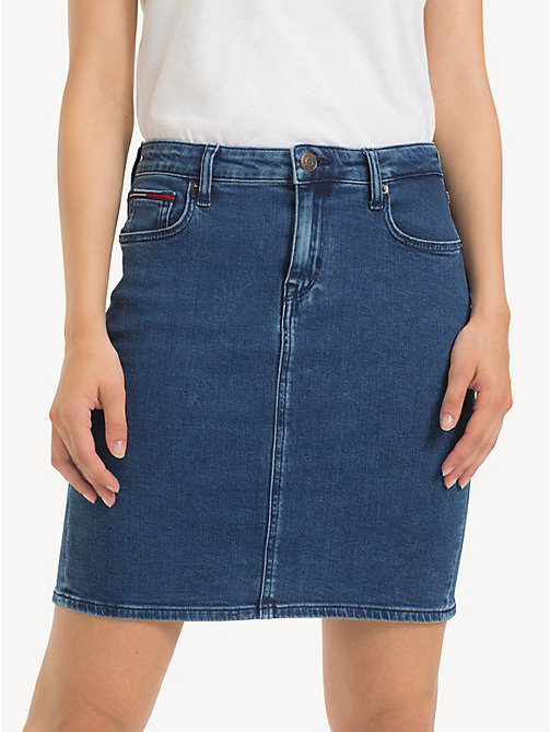 TOMMY JEANS Regular Fit Denim Skirt - OCTAVIA MID BLUE STR - TOMMY JEANS Trousers & Skirts - detail image 1