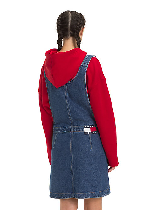TOMMY JEANS A-Line Dungaree Dress - GOUGH MID BLUE RIG - TOMMY JEANS Dresses - detail image 1