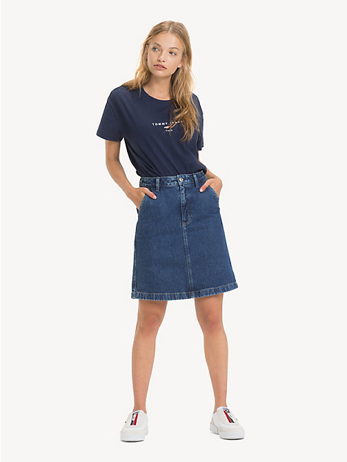 TOMMY JEANS A-Line Denim Skirt - GOUGH MID BLUE RIG - TOMMY JEANS Trousers & Skirts - main image